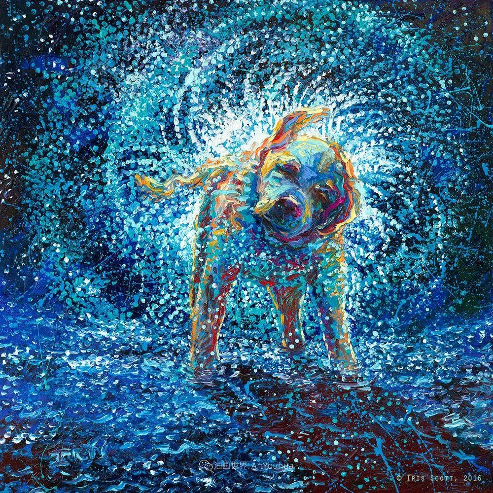 用颜料触摸这个世界!美国画家Iris Scott画选(中)——动植物篇插图95