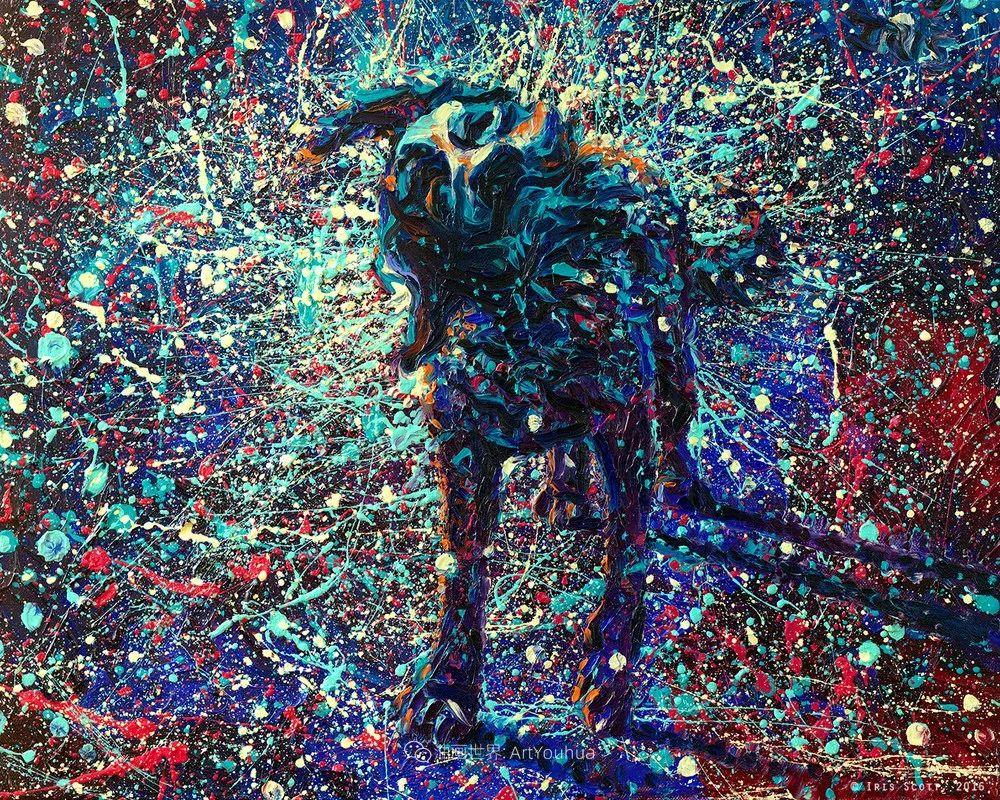 用颜料触摸这个世界!美国画家Iris Scott画选(中)——动植物篇插图97