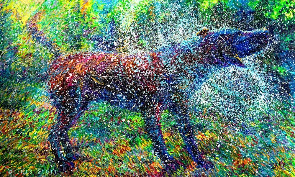 用颜料触摸这个世界!美国画家Iris Scott画选(中)——动植物篇插图99