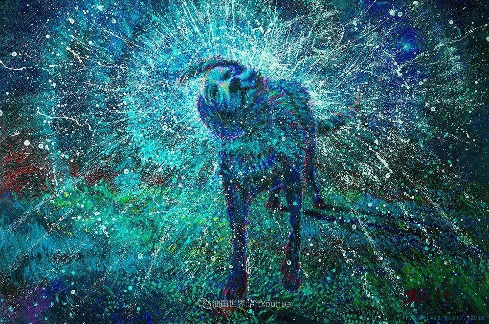 用颜料触摸这个世界!美国画家Iris Scott画选(中)——动植物篇插图101