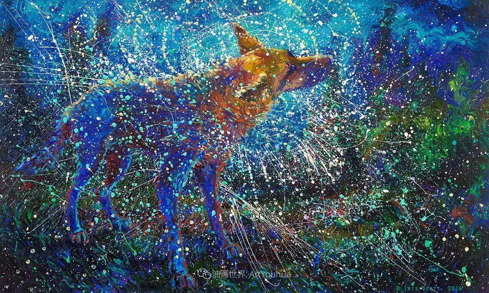 用颜料触摸这个世界!美国画家Iris Scott画选(中)——动植物篇插图103