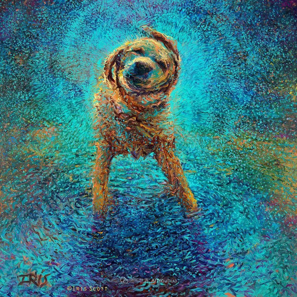 用颜料触摸这个世界!美国画家Iris Scott画选(中)——动植物篇插图105