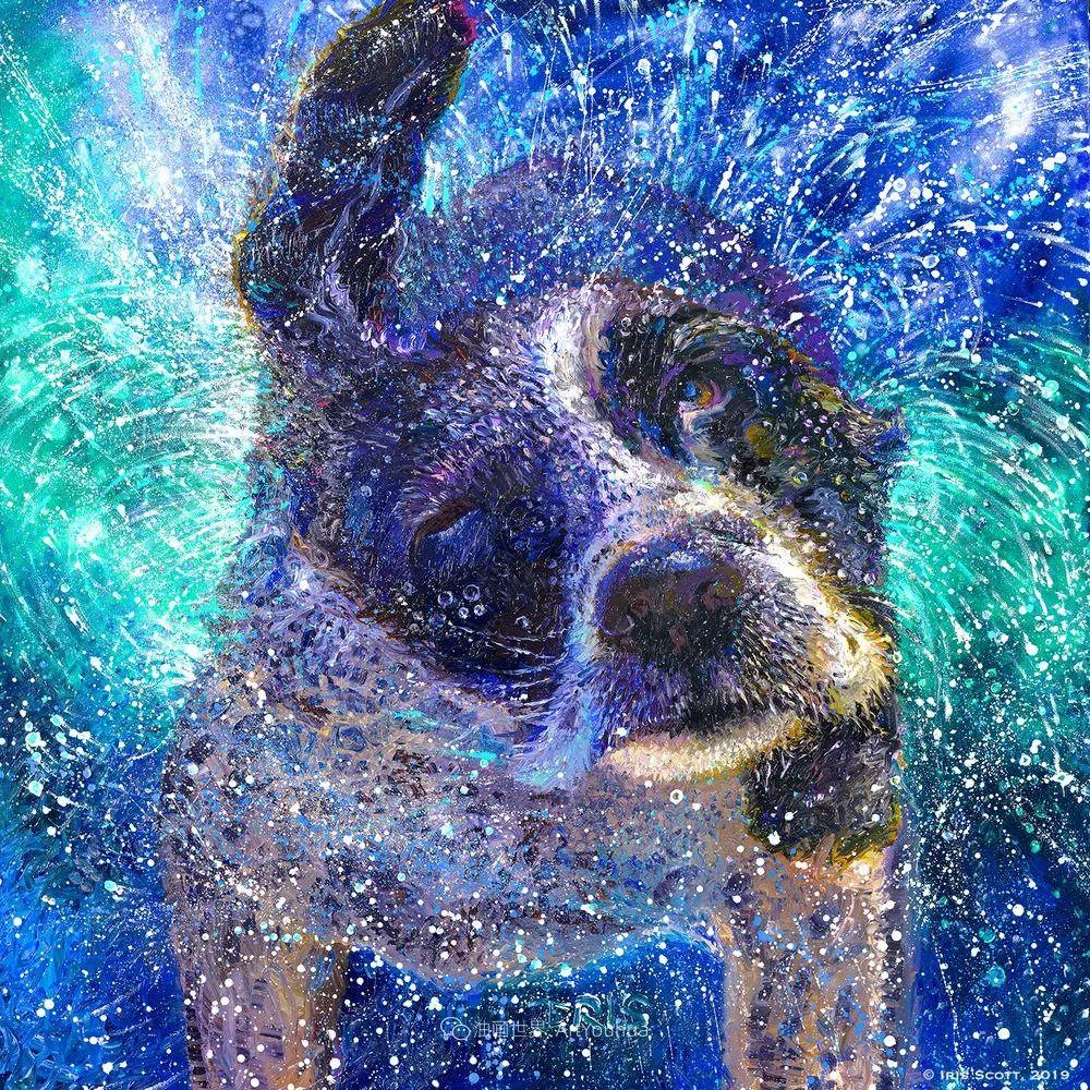 用颜料触摸这个世界!美国画家Iris Scott画选(中)——动植物篇插图107