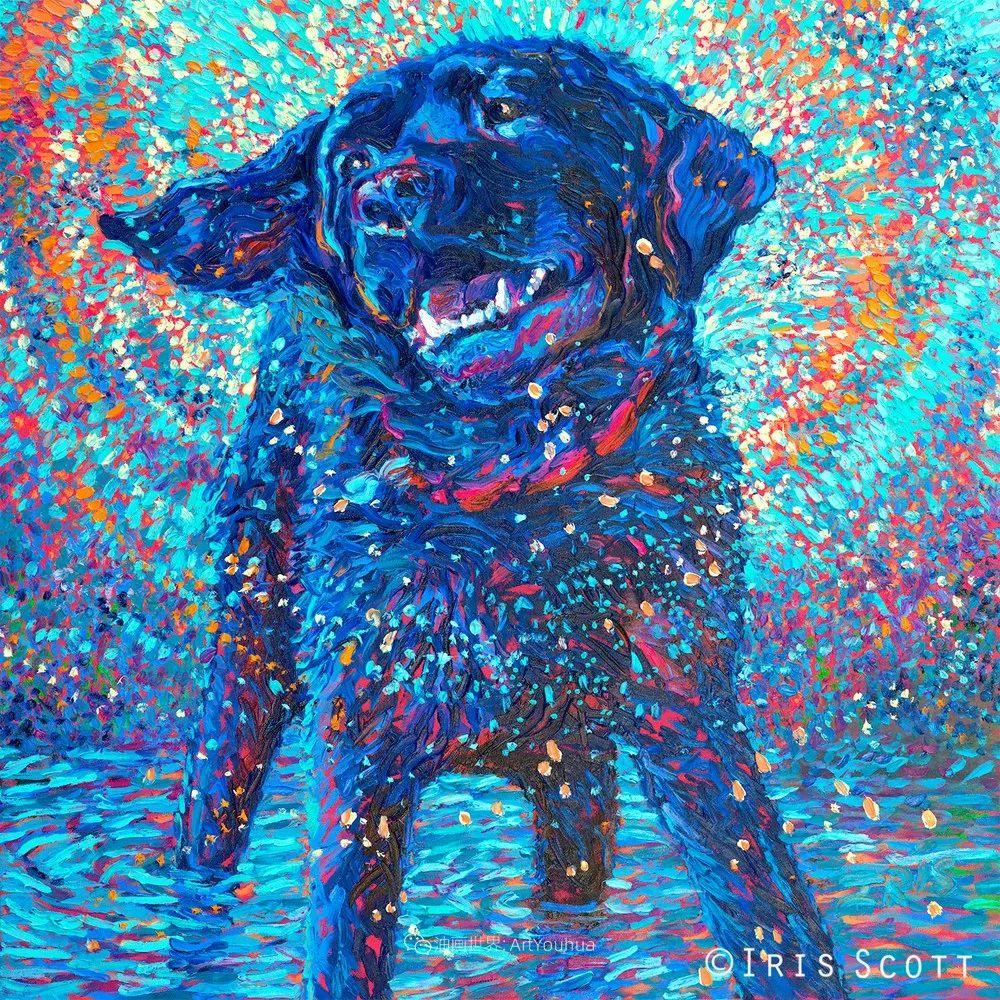 用颜料触摸这个世界!美国画家Iris Scott画选(中)——动植物篇插图109