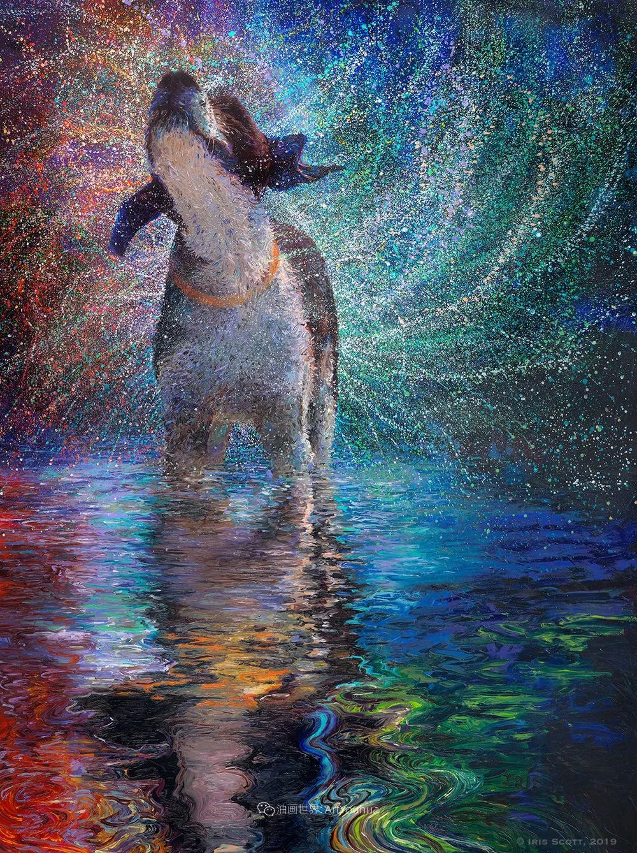 用颜料触摸这个世界!美国画家Iris Scott画选(中)——动植物篇插图111
