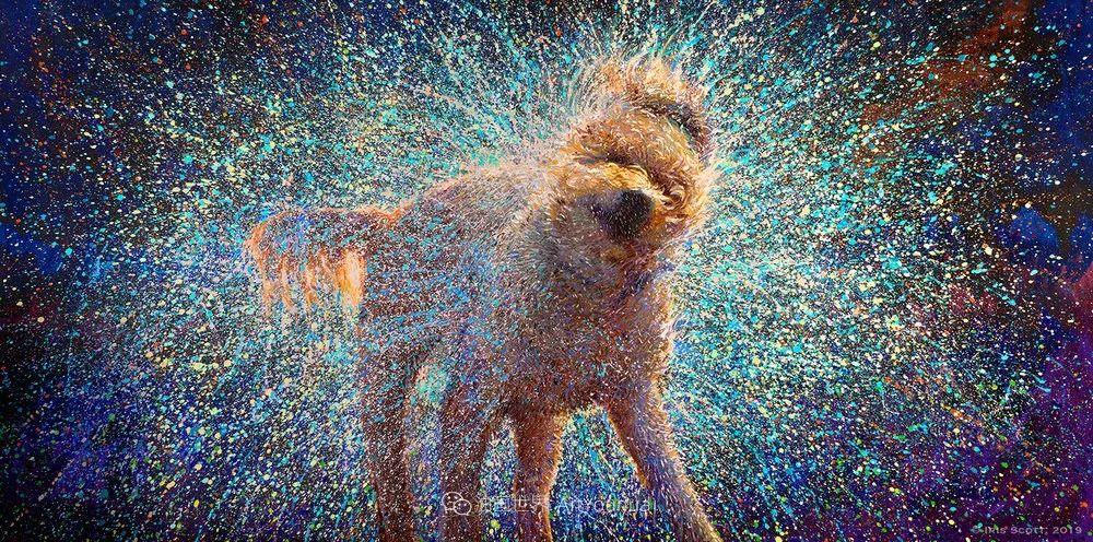 用颜料触摸这个世界!美国画家Iris Scott画选(中)——动植物篇插图113