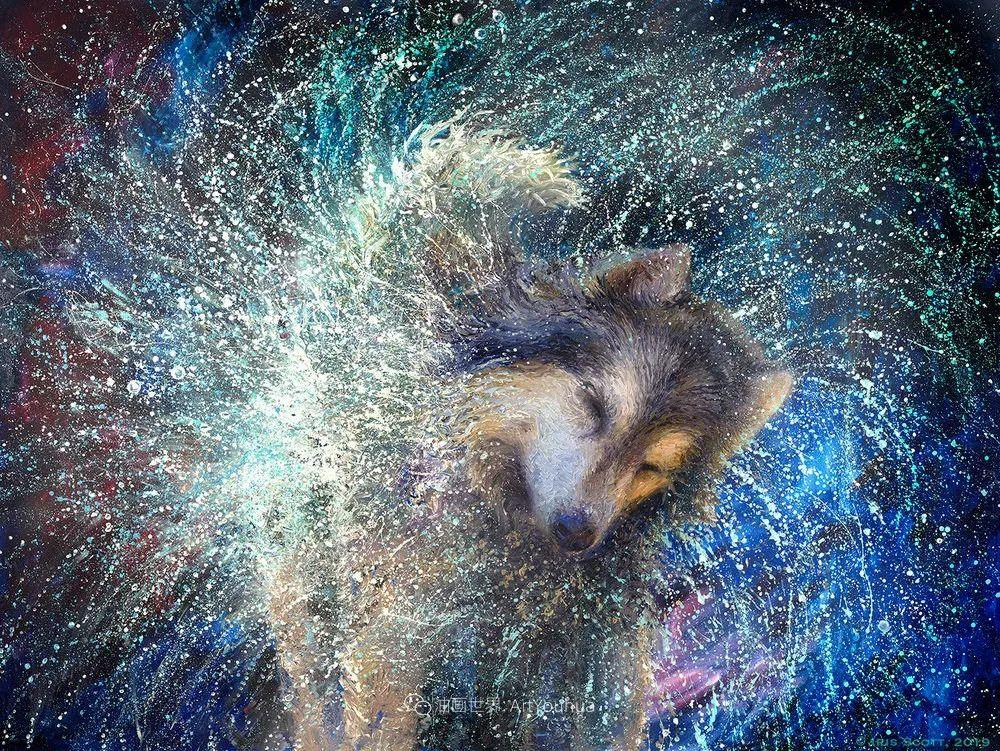 用颜料触摸这个世界!美国画家Iris Scott画选(中)——动植物篇插图115