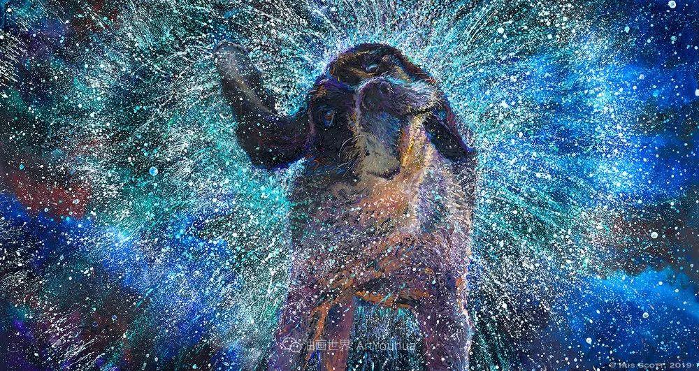用颜料触摸这个世界!美国画家Iris Scott画选(中)——动植物篇插图119