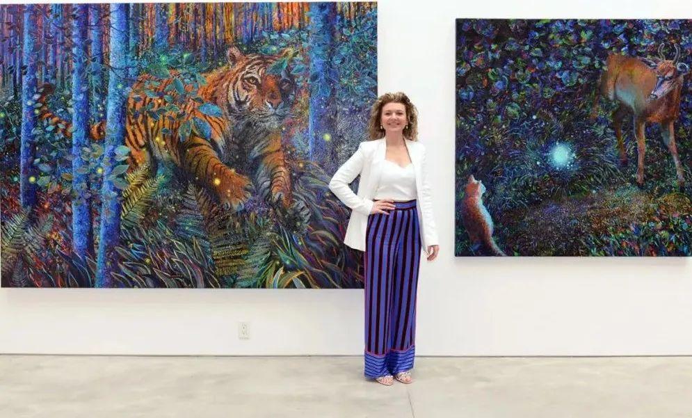 她用指尖来革新艺术世界,美国画家Iris Scott画选(上)插图5