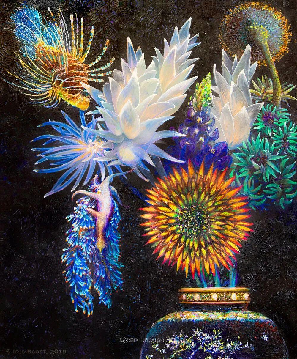 她用指尖来革新艺术世界,美国画家Iris Scott画选(上)插图7