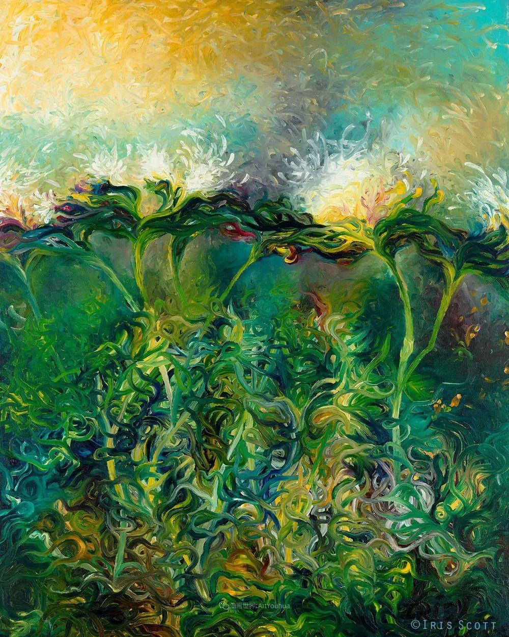 她用指尖来革新艺术世界,美国画家Iris Scott画选(上)插图13