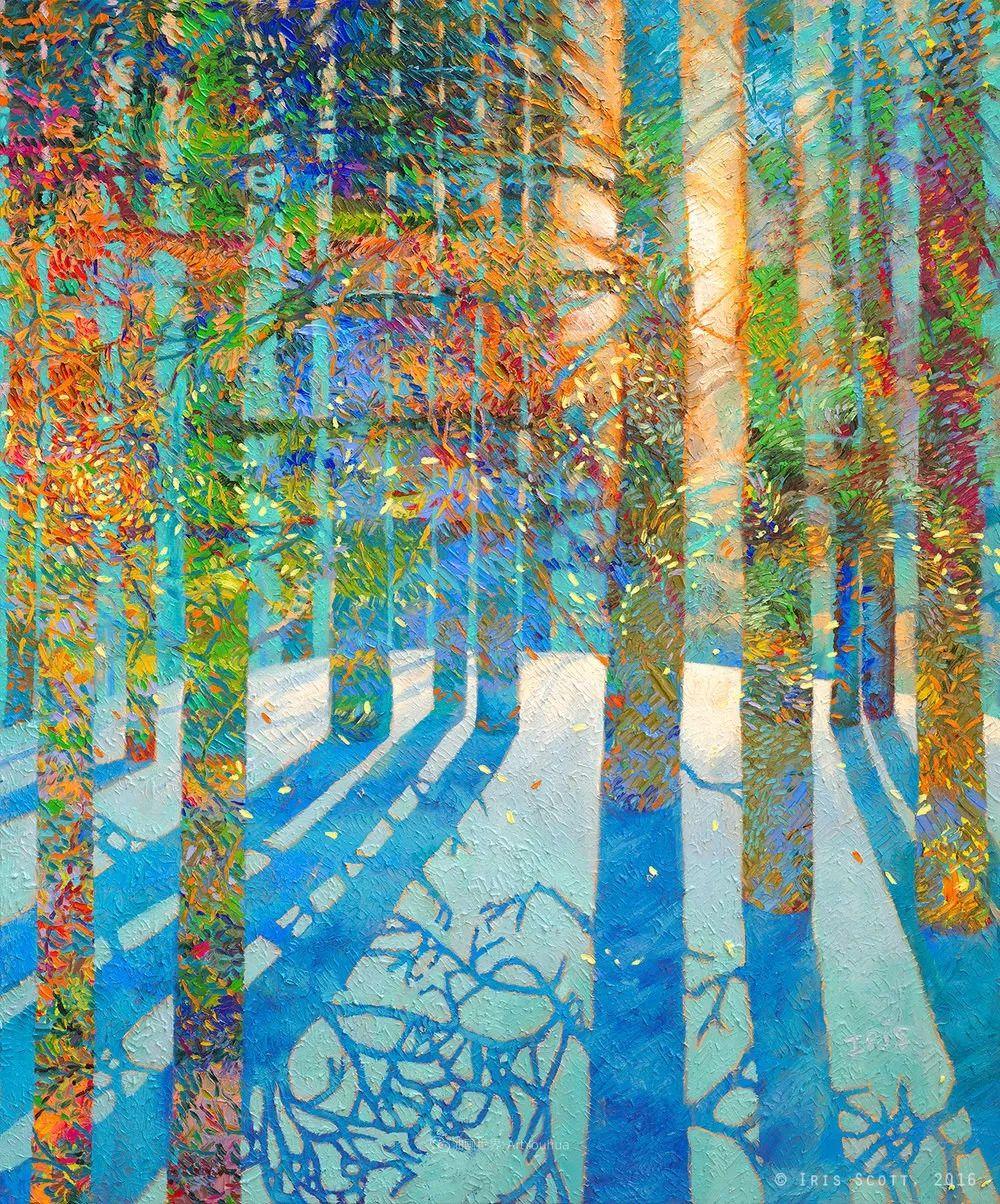 她用指尖来革新艺术世界,美国画家Iris Scott画选(上)插图15