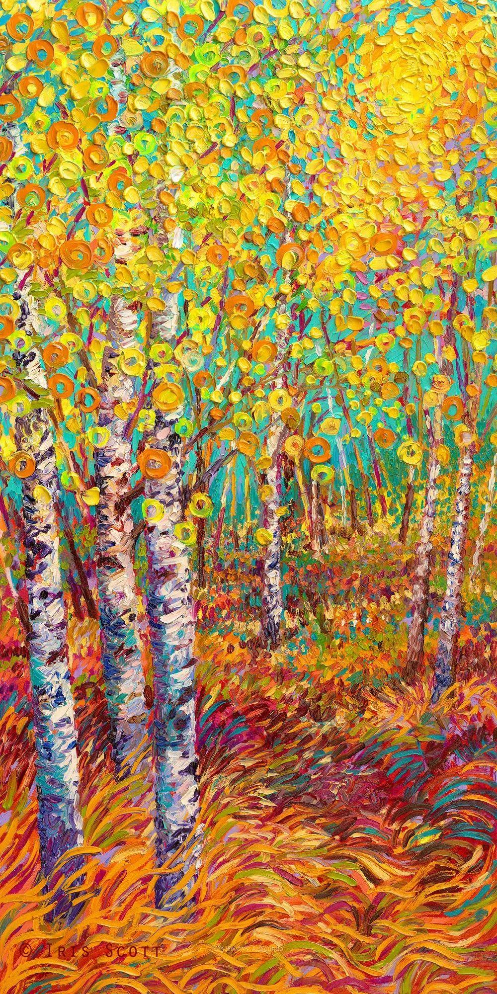 她用指尖来革新艺术世界,美国画家Iris Scott画选(上)插图21