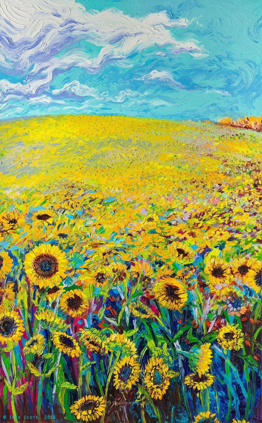 她用指尖来革新艺术世界,美国画家Iris Scott画选(上)插图33