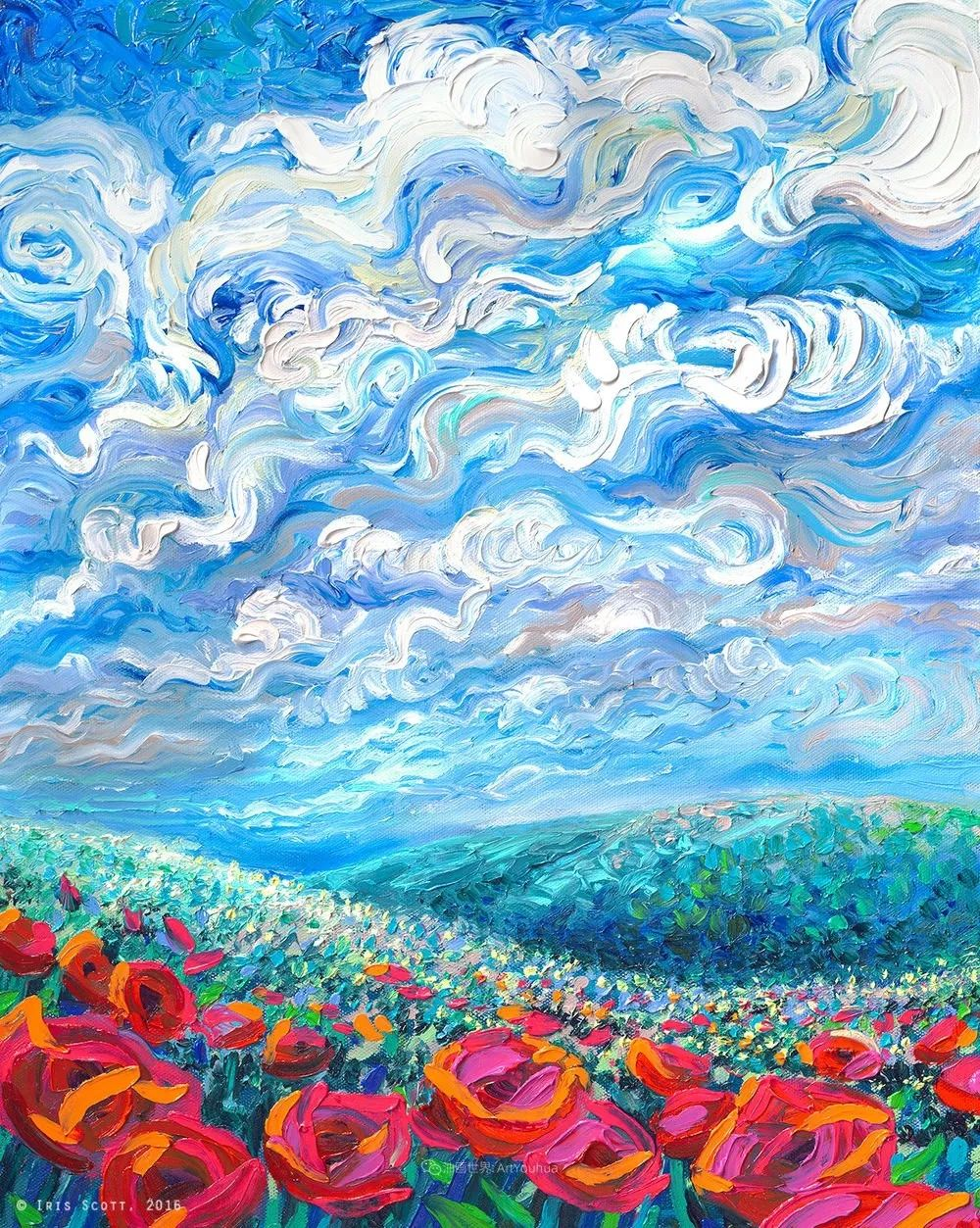 她用指尖来革新艺术世界,美国画家Iris Scott画选(上)插图45