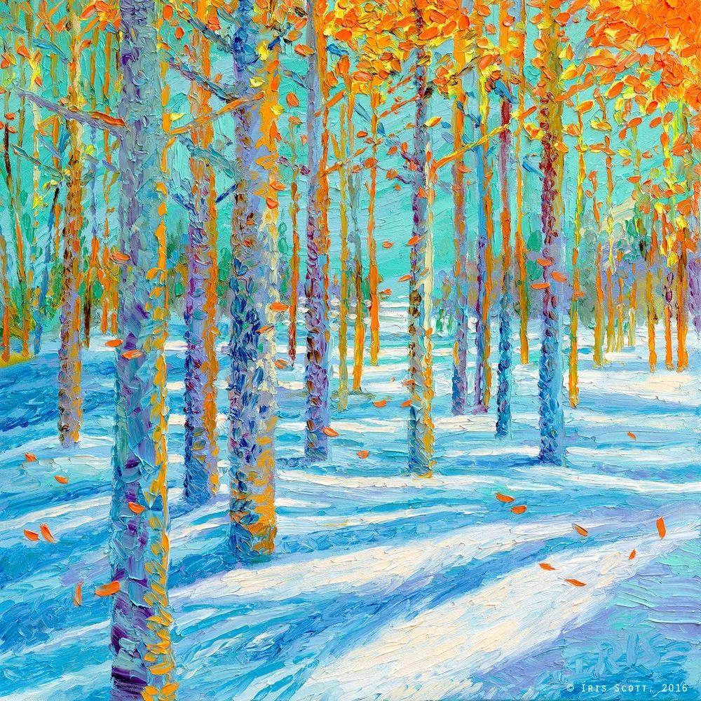 她用指尖来革新艺术世界,美国画家Iris Scott画选(上)插图53
