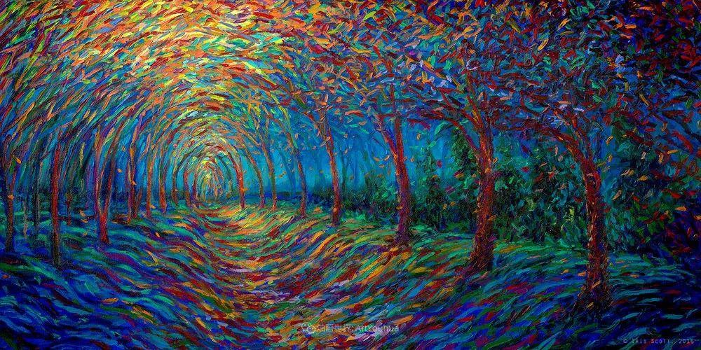 她用指尖来革新艺术世界,美国画家Iris Scott画选(上)插图59