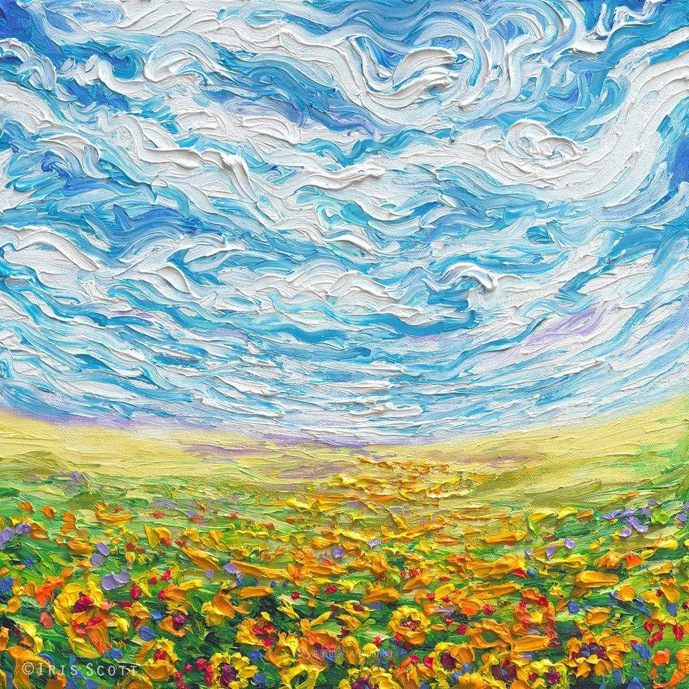 她用指尖来革新艺术世界,美国画家Iris Scott画选(上)插图63