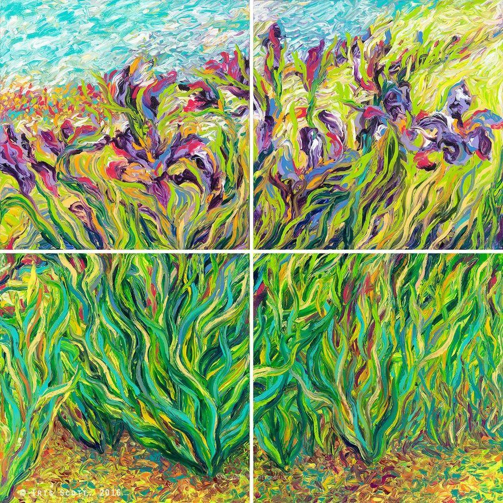 她用指尖来革新艺术世界,美国画家Iris Scott画选(上)插图65