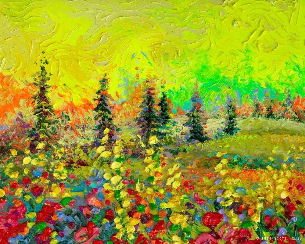 她用指尖来革新艺术世界,美国画家Iris Scott画选(上)插图67