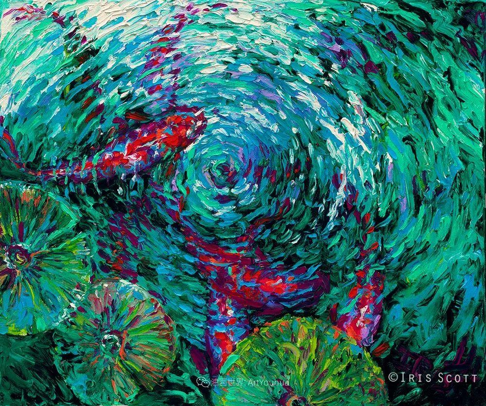 她用指尖来革新艺术世界,美国画家Iris Scott画选(上)插图75