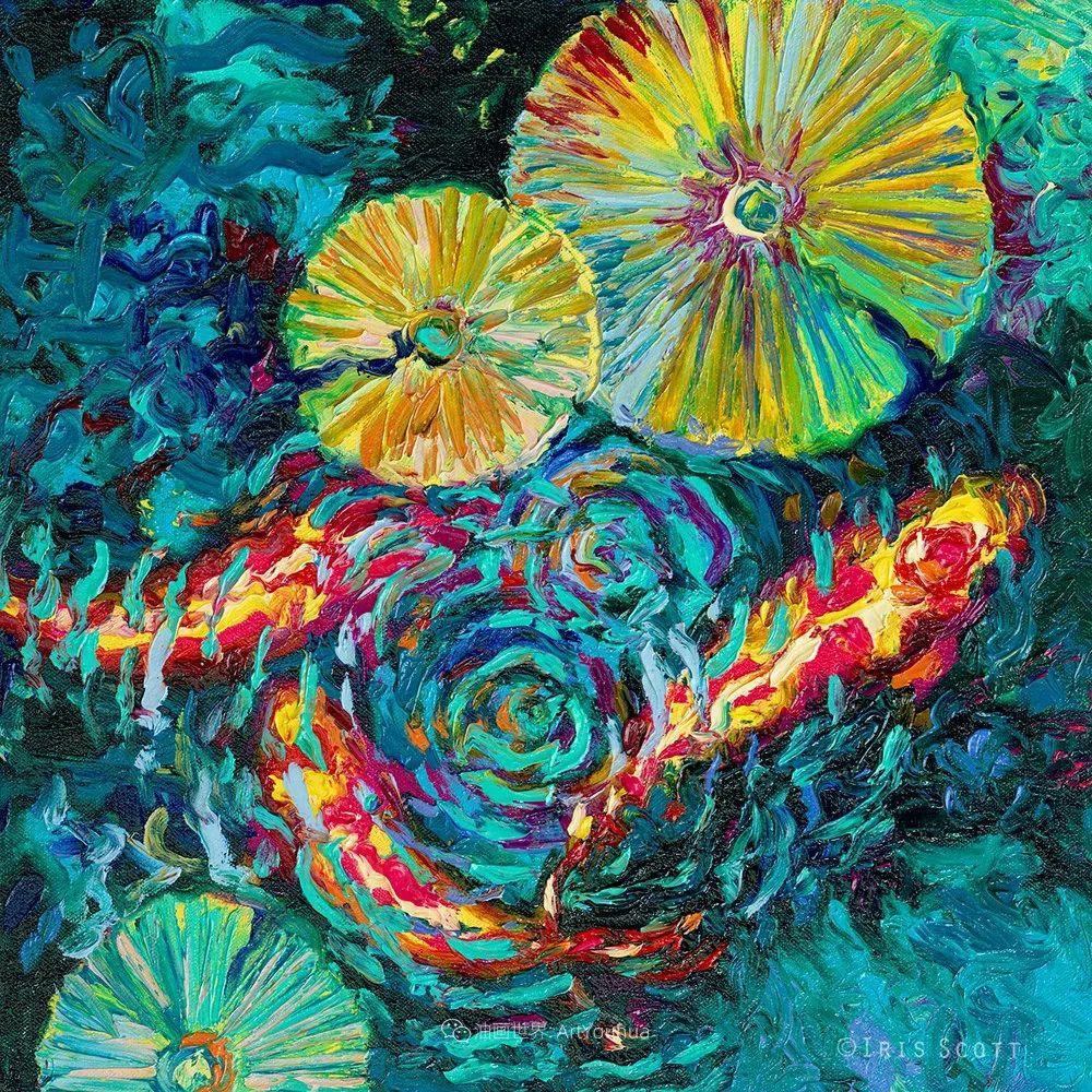 她用指尖来革新艺术世界,美国画家Iris Scott画选(上)插图79