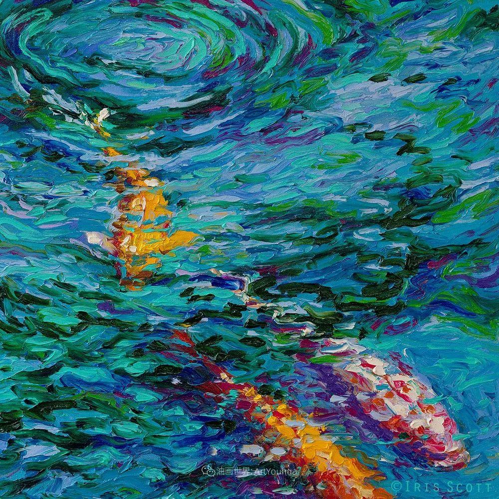 她用指尖来革新艺术世界,美国画家Iris Scott画选(上)插图85