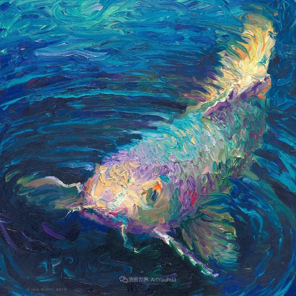 她用指尖来革新艺术世界,美国画家Iris Scott画选(上)插图87
