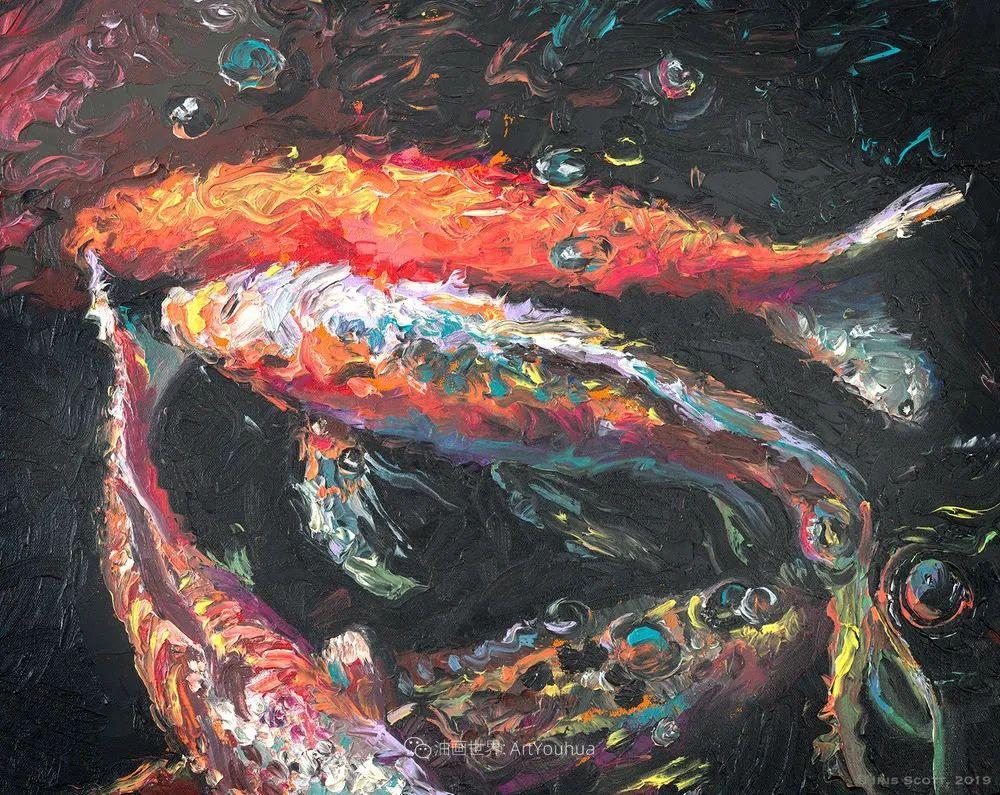 她用指尖来革新艺术世界,美国画家Iris Scott画选(上)插图89