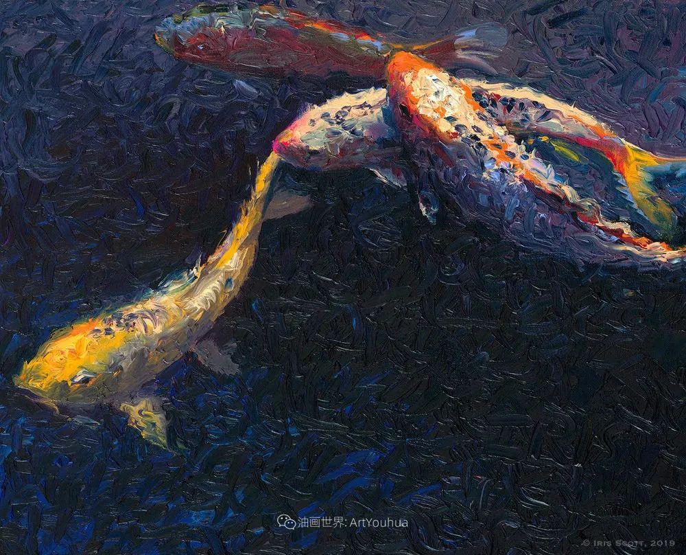 她用指尖来革新艺术世界,美国画家Iris Scott画选(上)插图95