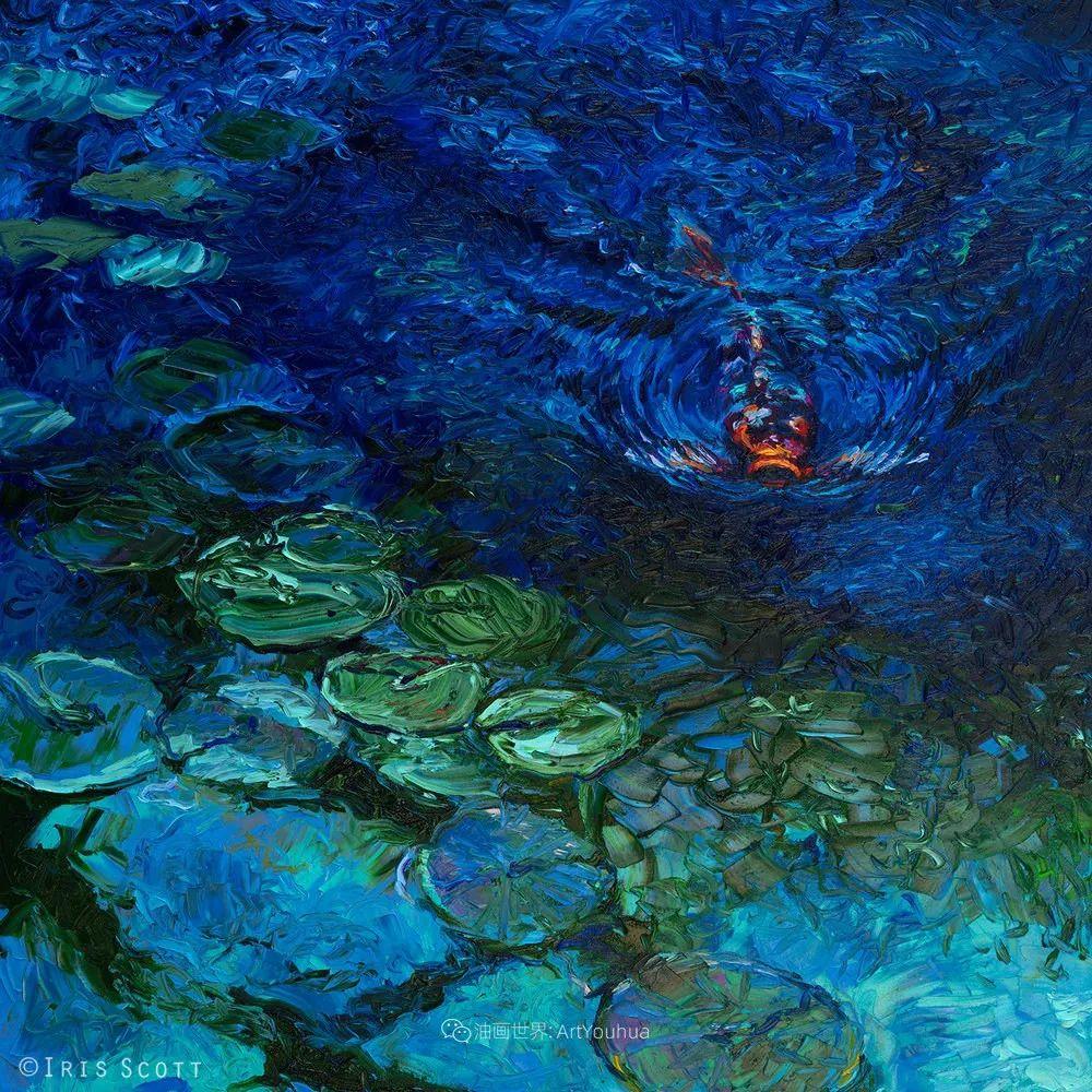 她用指尖来革新艺术世界,美国画家Iris Scott画选(上)插图97