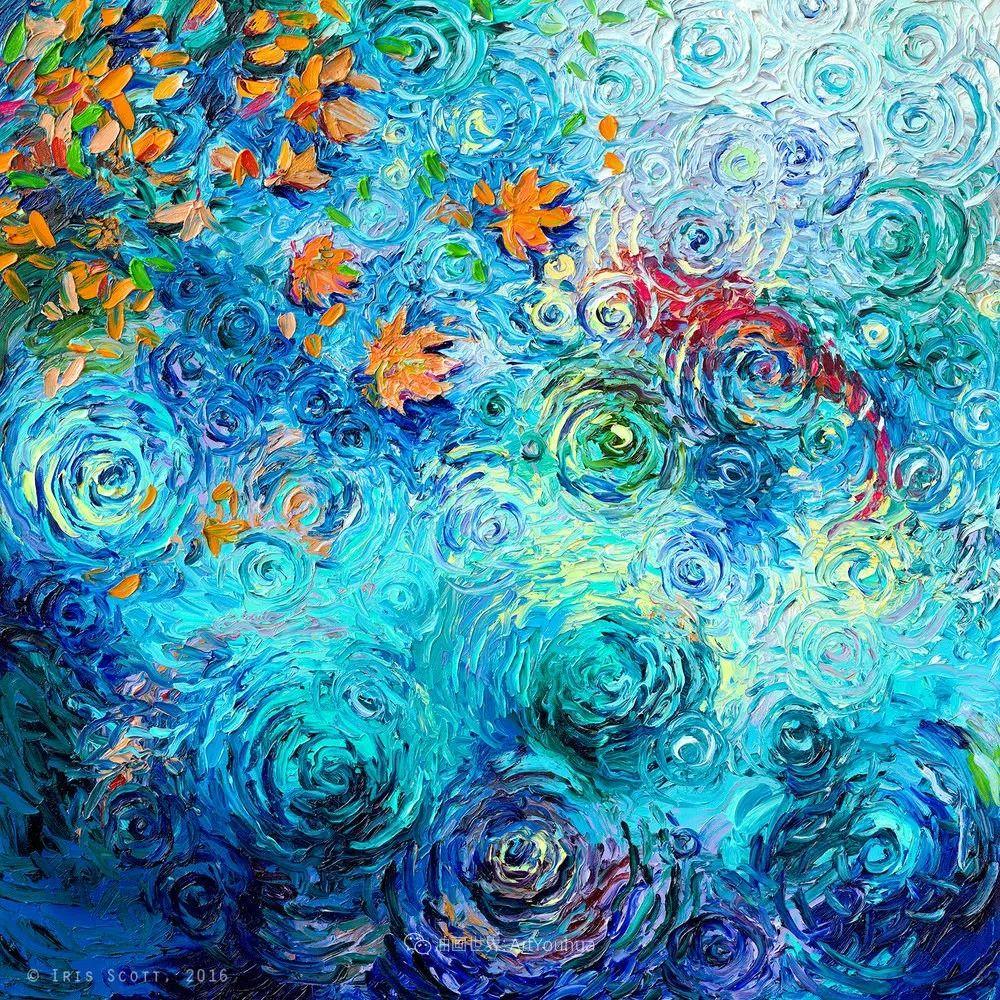 她用指尖来革新艺术世界,美国画家Iris Scott画选(上)插图101