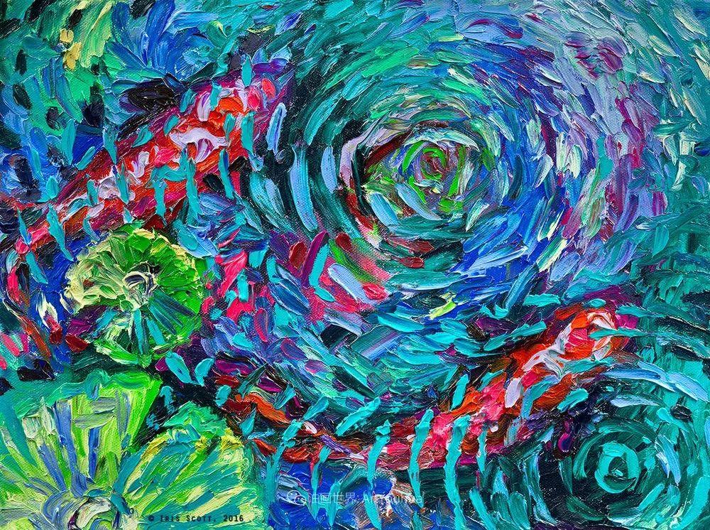 她用指尖来革新艺术世界,美国画家Iris Scott画选(上)插图109