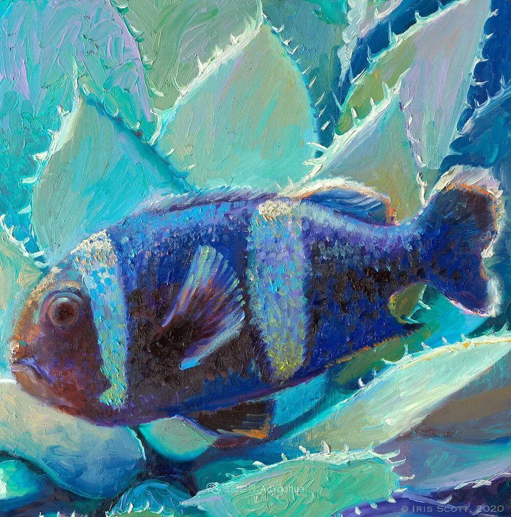 她用指尖来革新艺术世界,美国画家Iris Scott画选(上)插图111