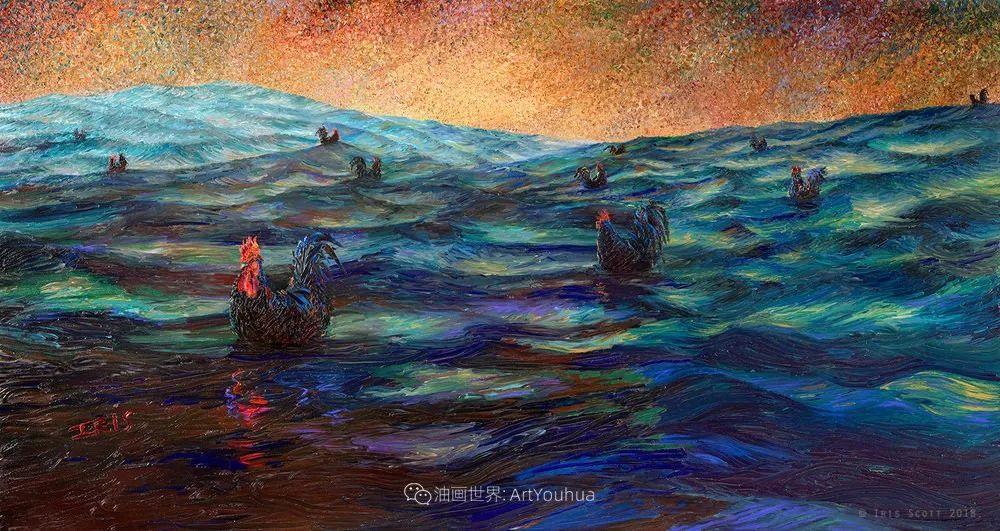 她用指尖来革新艺术世界,美国画家Iris Scott画选(上)插图119
