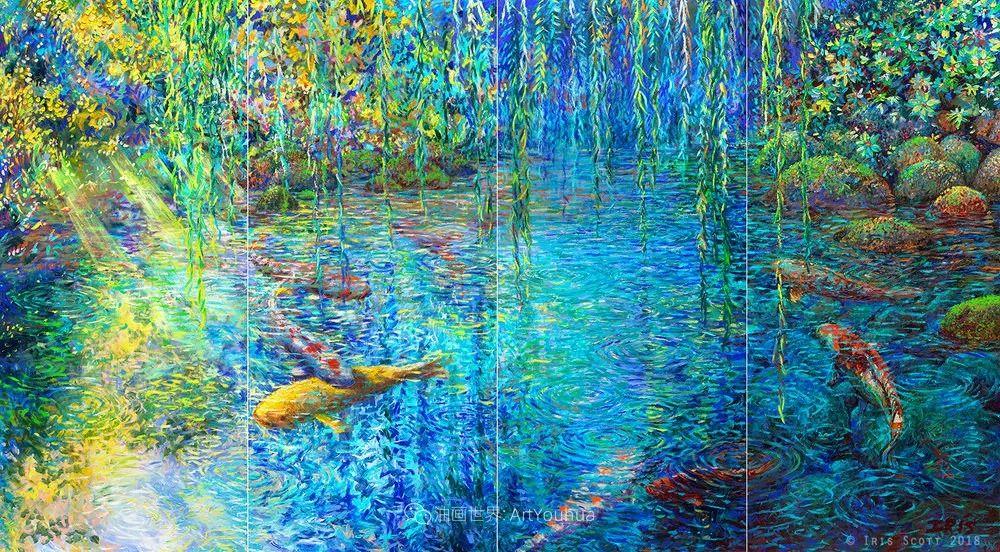她用指尖来革新艺术世界,美国画家Iris Scott画选(上)插图121