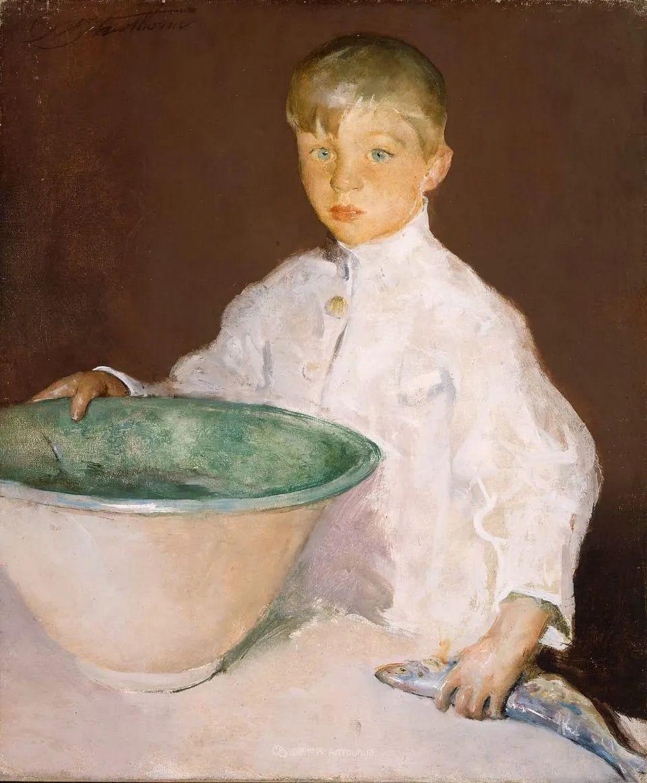 富有灵魂的人物色彩,美国印象派画家查尔斯画选插图35