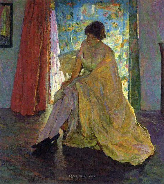 富有灵魂的人物色彩,美国印象派画家查尔斯画选插图99