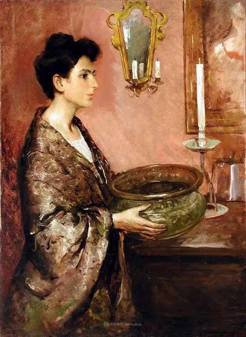 富有灵魂的人物色彩,美国印象派画家查尔斯画选插图103