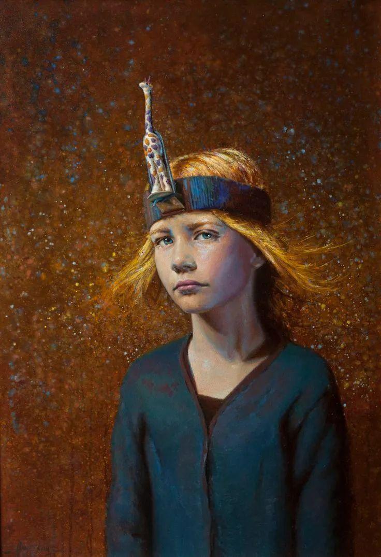 有趣而独特的人物肖像画,美国画家塞思·哈维坎普插图2