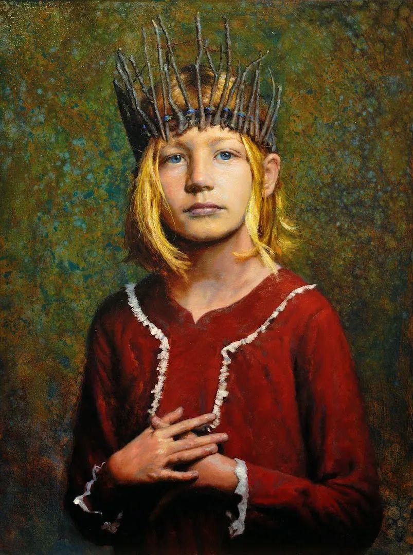 有趣而独特的人物肖像画,美国画家塞思·哈维坎普插图3