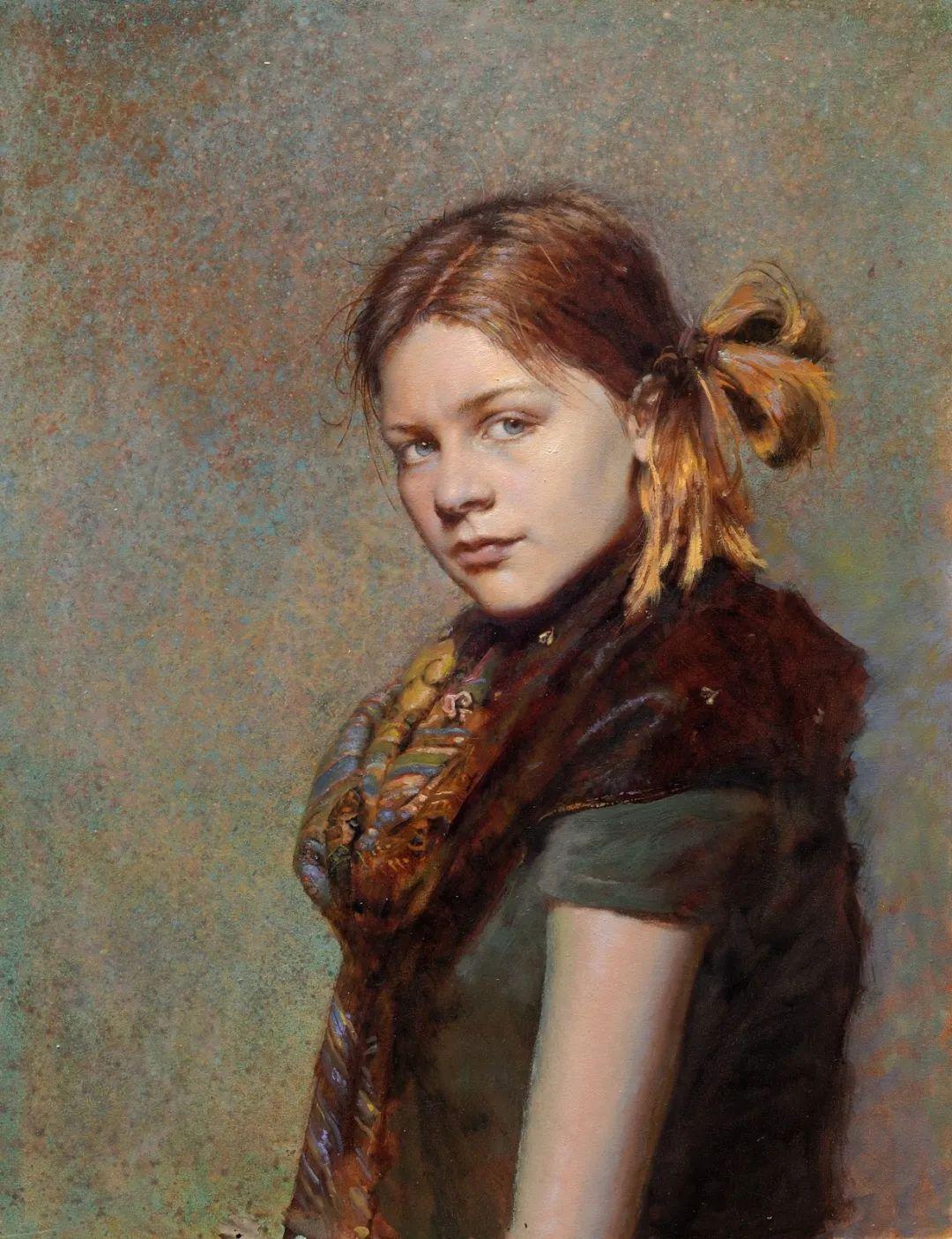 有趣而独特的人物肖像画,美国画家塞思·哈维坎普插图5