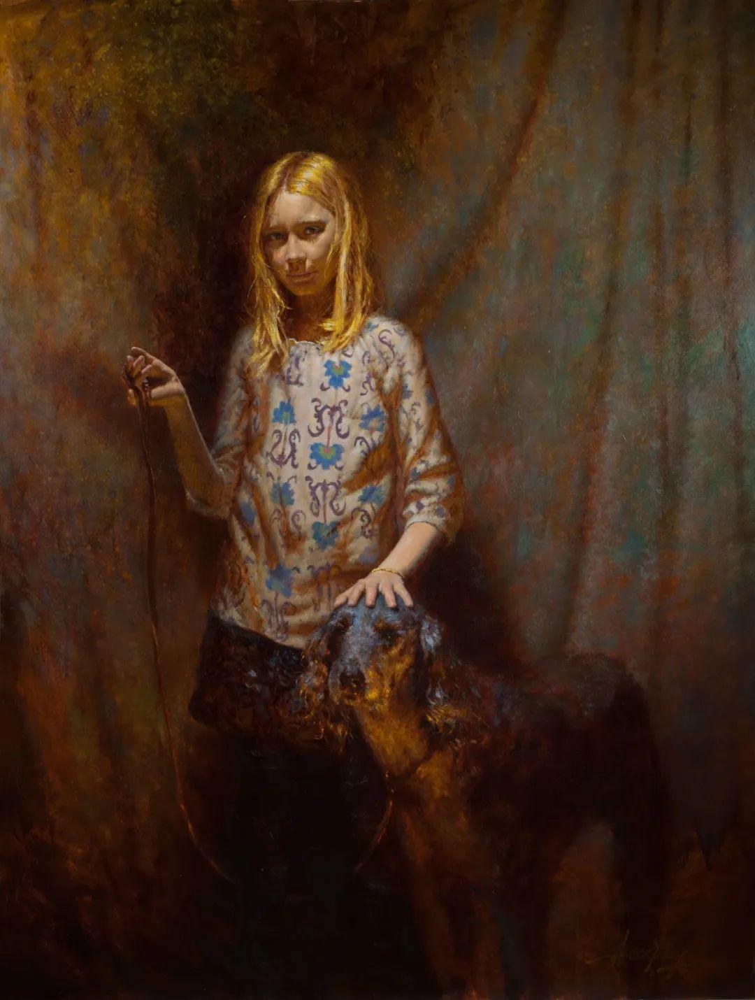 有趣而独特的人物肖像画,美国画家塞思·哈维坎普插图6
