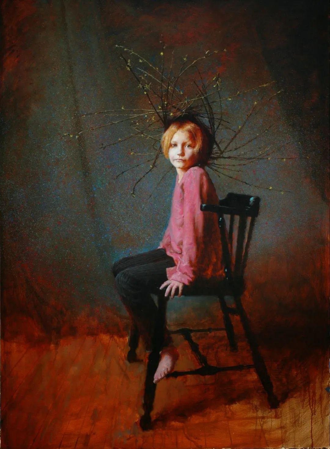 有趣而独特的人物肖像画,美国画家塞思·哈维坎普插图8