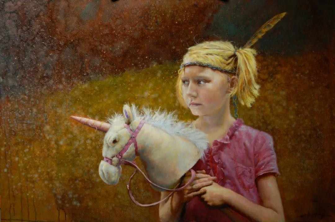 有趣而独特的人物肖像画,美国画家塞思·哈维坎普插图9