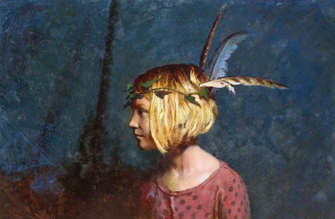 有趣而独特的人物肖像画,美国画家塞思·哈维坎普插图10