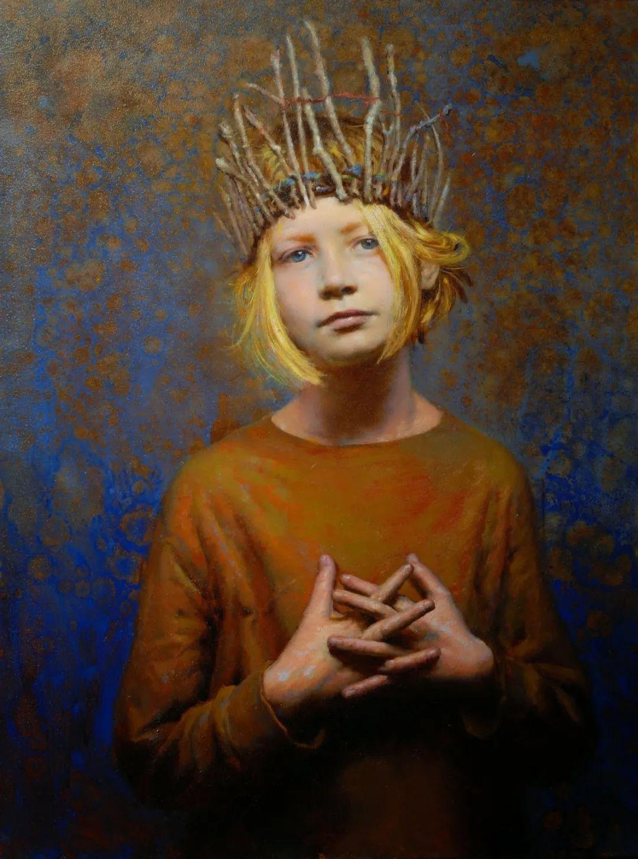 有趣而独特的人物肖像画,美国画家塞思·哈维坎普插图11