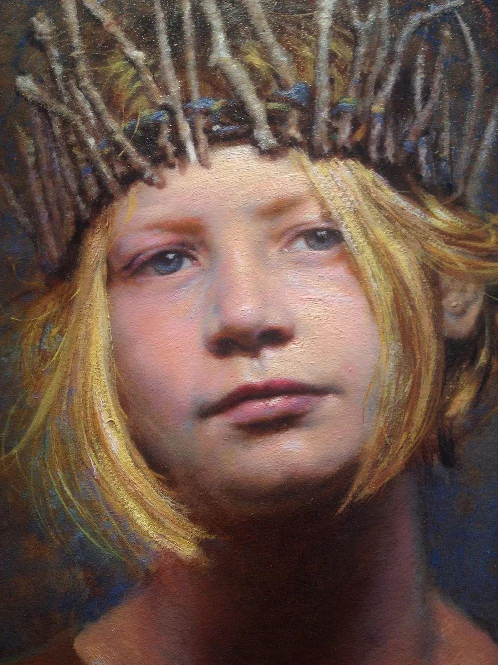 有趣而独特的人物肖像画,美国画家塞思·哈维坎普插图12