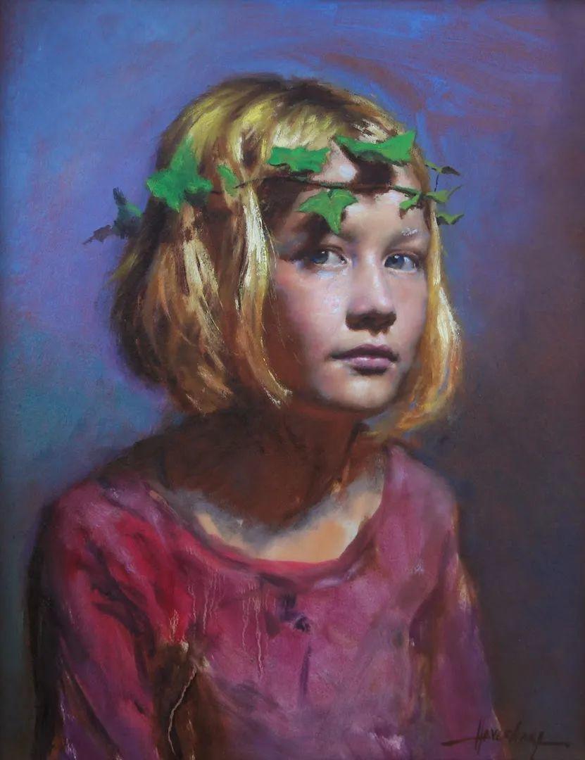 有趣而独特的人物肖像画,美国画家塞思·哈维坎普插图13