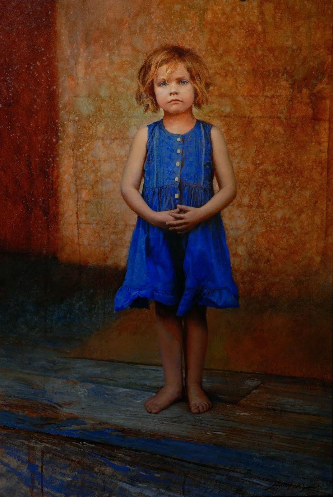 有趣而独特的人物肖像画,美国画家塞思·哈维坎普插图14